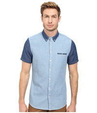 Moods Of Norway Per Vick Short Sleeve Shirt 151063 Cerulean Men's Short Sleeve Button Up Blue