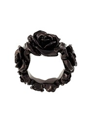 Givenchy Floral Engraved Ring Black