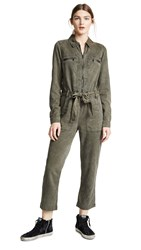 Hudson Twill Jumpsuit Washed Army Green