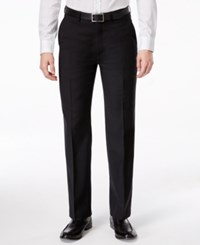 Ryan Seacrest Distinction Black Solid Slim Fit Pants