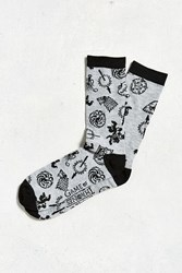 Urban Outfitters Game Of Thrones Sigils Sock Grey