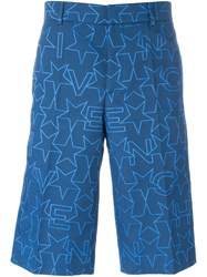 Givenchy Star Jacquard Shorts Blue