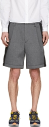 Kolor Grey Chambray And Neoprene Shorts