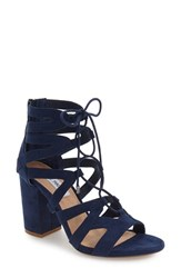 Steve Madden Women's 'Gal' Strappy Lace Up Sandal Navy