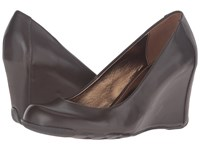 Kenneth Cole Reaction Did U Tell Cocoa Leather Women's Wedge Shoes Brown