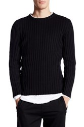 Junk De Luxe Military Ribbed Sweater Black