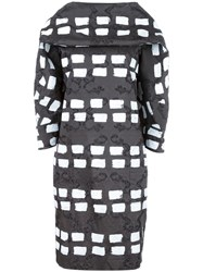 Vivienne Westwood Anglomania Geometric Patten Shift Dress Black