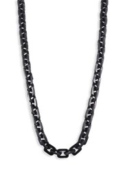 Nest Square Link Horn Necklace Black Horn