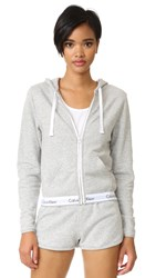 Calvin Klein Underwear Modern Cotton Full Zip Hoodie Grey Heather
