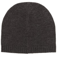 John Lewis Knitted Beanie Hat One Size Charcoal