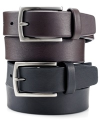 Perry Ellis Leather Casual Belt Brown