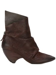 Marsell Pointed Toe Distressed Boots