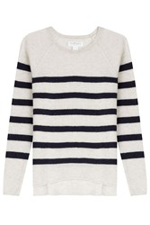 Velvet Striped Cashmere Pullover Stripes