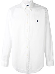 Ralph Lauren Long Sleeve Logo Shirt Men Cotton Xxl White