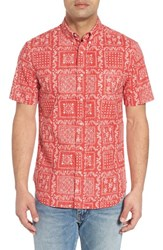 Reyn Spooner 'S Lahaina Sailor Classic Fit Sport Shirt Cherry