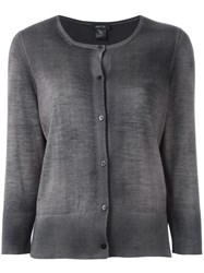 Avant Toi Button Down Cardigan Grey