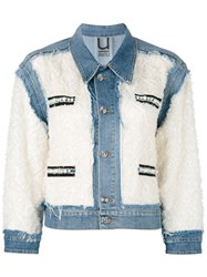 Aviu Distressed Panel Denim Jacket Women Cotton Polyamide Polyester Spandex Elastane S White