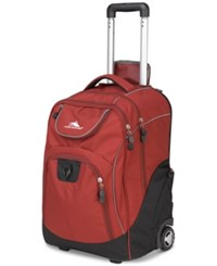 High Sierra Powerglide Rolling Backpack Brick