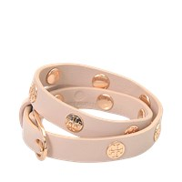 Tory Burch Double Wrap Logo Studded Bracelet