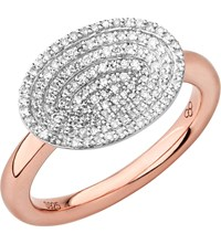 Links Of London Concave 18Ct Rose Gold Vermeil And Diamond Ring
