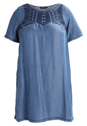Evans Denim Dress Blue