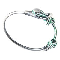 Anchor And Crew Wharf Rope Silver Bangle
