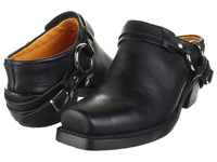 Frye Belted Harness Mule Black Greasy Leather Women's Boots