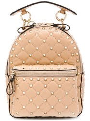 Valentino Rockstud Backpack Nude And Neutrals