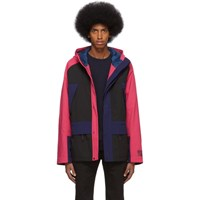 Paul Smith Ps By Black And Pink Sport Parka