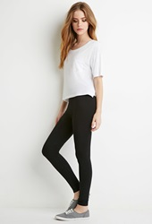 Forever 21 Organic Cotton Blend Leggings Black