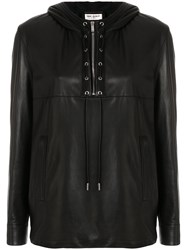 Saint Laurent Biker Long Sleeve Shirt Black