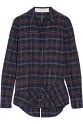 Thakoon Addition Plaid Cotton Blend Flannel Shirt