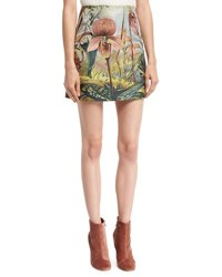 Adam By Adam Lippes Jungle Print Mini Skirt Multi
