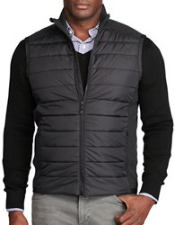 Polo Big And Tall Paneled Quilted Zip Up Vest Polo Black