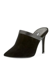Charles David Stila Suede High Mule Black