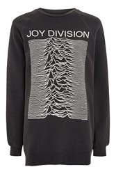 Topshop Joy Division Sweatshirt By And Finally Washed Black
