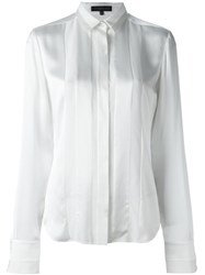 Barbara Bui Pleated Panel Longsleeved Shirt White