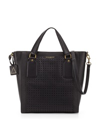 Kelsi Dagger Leather Glasslands Perforated Tote Bag Black
