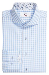 Lorenzo Uomo Trim Fit Check Dress Shirt Textured Gingham