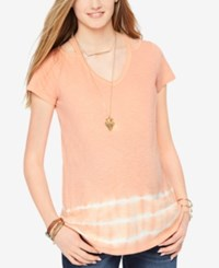 Wendy Bellissimo Maternity Tie Dye Tee Muted Clay