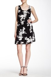 Daniel Rainn Sleeveless And Printed Woven Blouson Dress Black