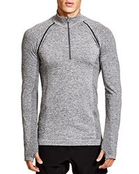 Hpe Cross Seamless Quarter Zip Sweatshirt Grey