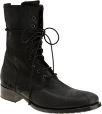 Buttero Tall Side Zip Boots Black