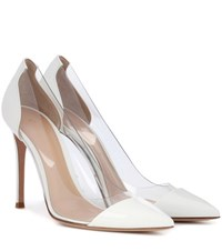 Gianvito Rossi Plexi Patent Leather And Transparent Pumps White