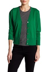 Dkny Long Sleeve V Neck Cardigan Green