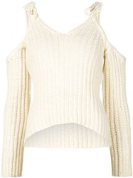 Rosie Assoulin Off The Shoulder Sweater White