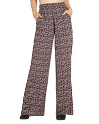 Bcbgeneration Printed Palazzo Pants Red Ginger Combo