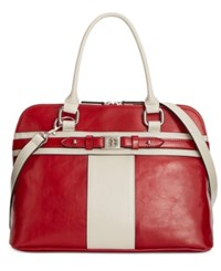 Giani Bernini Glazed Dome Satchel Only At Macy's Red Bone