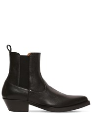 Givenchy 40Mm Leather Western Boots Black