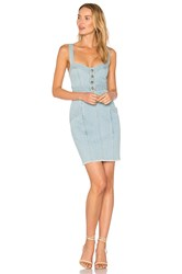 Nicholas Denim Paneled Dress Blue